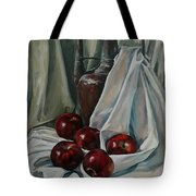 Jug With Apples Tote Bag