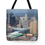 Kansas City Skyline Panorama Tote Bag