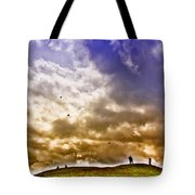 Kite Flying Tote Bag by David Patterson
