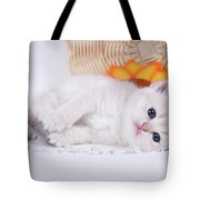 Kitten With Flover Tote Bag