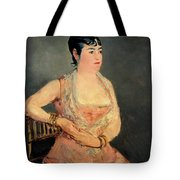 Lady In Pink Tote Bag
