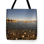 Lakefront And Sunset At Mono Lake, Eastern Sierra, California, U Tote Bag