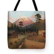 Landscape With Volcano Tote Bag