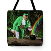 Leprechaun With Pot Of Gold Tote Bag