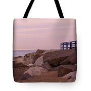 Lexington Harbor At Sunset Tote Bag by Kathy DesJardins