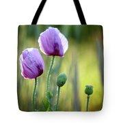 Lilac Poppy Flowers Tote Bag