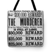 Lincoln Assassination Tote Bag