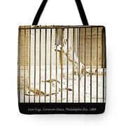 Lion Cage, Carnivore House, Philadelphia Zoo, C. 1900 Tote Bag
