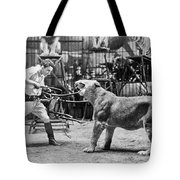 Lion Tamer, 1930s Tote Bag