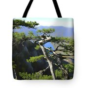 Look At The Pine Trees And The Lake Tote Bag
