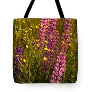 Lupins And Buttercups Tote Bag