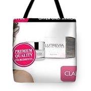 Lutrevia Cream Tote Bag