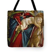 Madonna And Child And The Young St John The Baptist Tote Bag