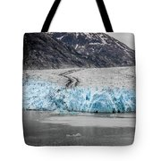 Magnificent Sawyer Glacier At The Tip Of Tracy Arm Fjord Tote Bag