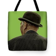 Man With A Bowler Hat Tote Bag