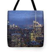 Manhattan Skyline New York Tote Bag