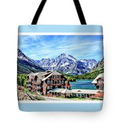 Many Glacier Hotel Tote Bag