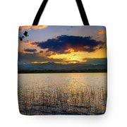 Mcintosh Lake Sunset Tote Bag