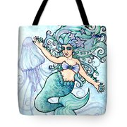 Mermaid Belly Dancer Tote Bag