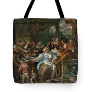 Merry Company On A Terrace Tote Bag