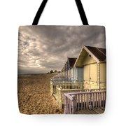 Mersea Island Beach Huts Tote Bag