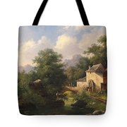 Mill With Angler Tote Bag