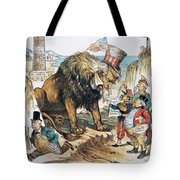 Monroe Doctrine: Cartoon Tote Bag