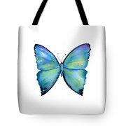 2 Morpho Aega Butterfly Tote Bag