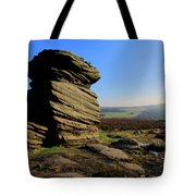 Mother Cap Gritstone Rock Formation, Millstone Edge Tote Bag