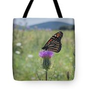 Mountain Meadow Monarch Tote Bag