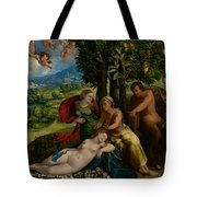 Mythological Scene Tote Bag