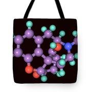 Naloxone, Molecular Model Tote Bag
