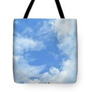 Natural Scenery With Mountains And Cloudy Sky. Tote Bag