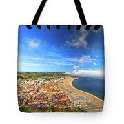 Nazare Portugal Skyline Tote Bag