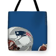 New England Patriots Original Typography Football Team Tote Bag