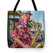 New Orleans Jazz Sax  Tote Bag
