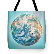 North Pole 3d Render Planet Earth Clouds Tote Bag
