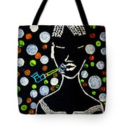 Nuer Lady With Pipe - South Sudan Tote Bag