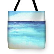 Ocean Watercolor Hand Painting Illustration. Tote Bag