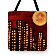 Wild L.a Moon Tote Bag