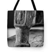 Old Claw Hammer With Wooden Handle Bw Tote Bag