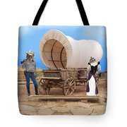 Old West Cats  Tote Bag