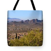 On Top Of A Mountain Tote Bag