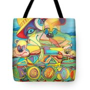 One Day On The Lake Tote Bag