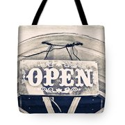 Open Sign Tote Bag