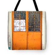 Orange Door Tote Bag