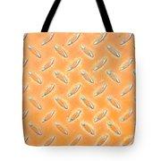 Orange Metal Tote Bag