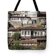 Ottoman Architecture View In Historic Berat Old Town Albania Tote Bag