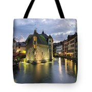 Palais De L'isle And Thiou River In Annecy Tote Bag