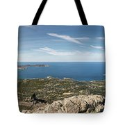 Panoramic View Across Calvi Bay And Revellata In Corsica Tote Bag